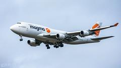 Magma 747 (lee adcock) Tags: 747 airatlantaicelandic b744 dsa runway20 sxy336 tfamp airplane boeing nikon70200f28vri nikond7200 tc14
