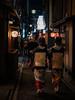Kyoto Geishas (dariru2107) Tags: kyoto japan asia traditional geisha maiko alleyway alley night lantern beautiful authentic nihon nippon sony a7rii a7r2 old culture street