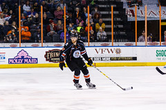 """Kansas City Mavericks vs. Florida Everblades, February 18, 2018, Silverstein Eye Centers Arena, Independence, Missouri.  Photo: © John Howe / Howe Creative Photography, all rights reserved 2018 • <a style=""""font-size:0.8em;"""" href=""""http://www.flickr.com/photos/134016632@N02/39491161975/"""" target=""""_blank"""">View on Flickr</a>"""