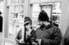 conversations interupted (image mine) Tags: looks talking snacking blackwhite film