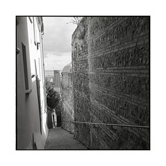 going down • le havre, normandy • 2016 (lem's) Tags: stairs marches escaliers ville city le havre normandy normandie rolleiflex planar