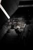 Fragile (LoKee Photo) Tags: lokee lowkey black white monochrome paris street city urban stairs old woman light shadow nikonpassion d7000
