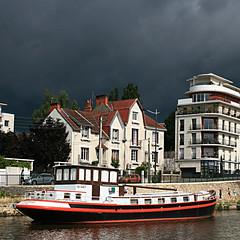 Nantes, France (pom.angers) Tags: canoneos400ddigital july 2012 nantes erdre river boat péniche sky loireatlantique 44 france europeanunion paysdelaloire 100 200 300 400 5000