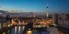 Berlin - Skyline Jannowitzbrücke (030mm-photography) Tags: rot berlin skyline fernsehturm bodemuseum museumsinsel pergamommuseum spree city cityscape blauestunde nachtaufnahme nightshot bluehour stadt winter architektur architecture