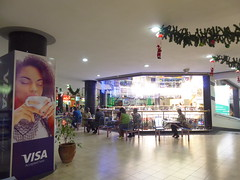 Visa accepted here (prondis_in_kenya) Tags: kenya nairobi shortrains saritcentre sarit shoppingcentre christmas decoration visa lunch light food