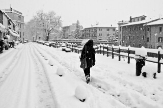 Snowing in Rieti 26_02_2018 Black&White