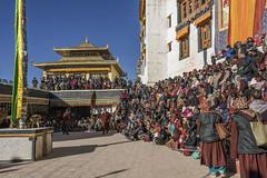 Spituk Gustor festival (tmeallen) Tags: spitukgompa spitukgustor festival crowds traditionalattire 11thcentury buddhistmonastery yellowhat courtyard lehdistrict ladakh jammuandkashmir india