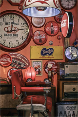 Coca-Cola (christophe plc) Tags: cocacola canon 6dmark2 interieur vintage pub clock time radio design commercial