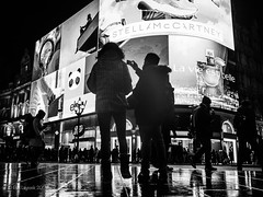 Oxford Circus (amipal) Tags: 175mm adverts billboard capital city england gb greatbritain london lowlight manuallens night people piccadillycircus street uk unitedkingdom urban voigtlander