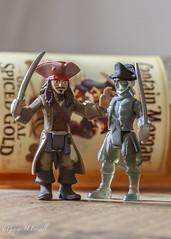 Jack Sparrow v Ghost Crewman (toonarmy59) Tags: myfavouritenovelfiction macromondays adventurenovel jacksparrow ghostcrewman piratesofthecaribbean figures spicedrum portrait indoors