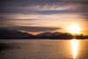 Last sunset of the year (Rico the noob) Tags: dof 50mmf12 50mm landscape sunset nature water birds outdoor lake animal sun 2017 published tree trees d850 bird chiemsee sky animals mountains germany duck clouds