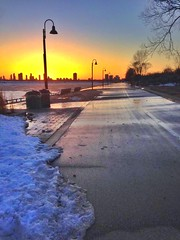 Toronto Ontario - Canada - Lake Ontario - Sunset (Onasill ~ Bill Badzo) Tags: toronto on ontario canada lake winter bike path martin trail seashore fixture mist onasill goodman thestar torontostar newspaper waterfront sunset reflections lakeshore lakeontario boardwalk iphone summer humber river place pier outdoor field landscape serene blizzard sunburst clouds snow water parkdale condo light fixtures street lights