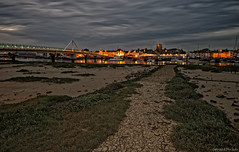 Shoreham Harbour (Dave Sexton) Tags: publish shoreham east sussex england united kingdom uk harbour boards mud church water river reflections wide angle dusk pentax k1 2470mm f28 dxo on1 affinityphoto