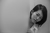 peeking (steve: they can't all be zingers!!! (primus)) Tags: sonya7r canonfdsccf14 primelens prime canon bw blackwhite taiwan taichungtaiwan
