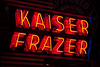 Kaiser Frazer (Jeremy Brooks) Tags: california lodi neon sanjoaquincounty usa vintagereservegarage