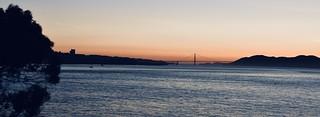 Late evening sky over the Golden Gate Bridge