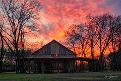 Rustic Splendor (In Explore: 40 on Wednesday, March 7, 2018) (Rajesh Jyothiswaran) Tags: barn clouds colorful country park parker pond rustic sun sunset texas trees vibrant vivid water western dallas fort worth metroplex