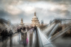 St Paul's Cathedral, London (RCARCARCA) Tags: riverthames thames blue milleniumbridge river cathedral photoartistry sky stpauls orange 5diii sunlight canon london 2470l clouds