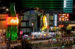 Vegas Night Lights (Anna Gurule) Tags: vegas vegasbaby vegasstrong night nightsky nightshots nightlights nights vegasnightlights lasvegasnevada artedgy annagurule annaortizgurule streets vacations longexposures