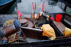 Jumble (clarke_ag) Tags: canada filmsimulation georgianbay huron incamera nets ontario ricohgr boat fishing