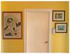 Artwork on a Sunny Yellow Background (soniaadammurray - On & Off) Tags: iphone yellow sunnyyellow smileonsaturday wall artwork door colours art artchallenge interior