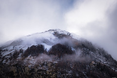Low clouds (Rico the noob) Tags: dof d850 landscape nature switzerland outdoor 2470mmf28 snow trees 2017 zermatt tree schweiz forest house sky published clouds stones mountains 2470mm
