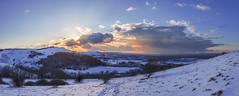 Newtimber (snomanda) Tags: blue clouds cold countryside dusk england hillside horizon landscape nature panorama rural sky snow sundown sunset sussex trees twilight uk winter
