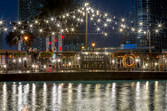 Restaurant view in Dubai (Monia Allouche) Tags: restaurant view dubai reflections water fountain romantic longexposure valentinesday burjkhalifa night outdoor city life style couple lights amazing scenery travel tourism