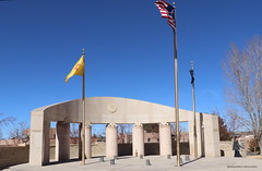 Santa Fe Veterans Memorial Park (Shadow _ Traveler) Tags: santafenewmexico santafe newmexico cityparks city remembrance travel travelphotography landscapephotography landscape photography memorial veteransmemorial hdr flags hdrphotography