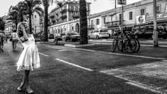 Girl in Nice, France 2/8 2015. (photoola) Tags: nice barn street sv child girl monochrome blackandwhite