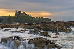 Tantallon Castle (MilesGrayPhotography (AnimalsBeforeHumans)) Tags: 2870 sonyfe2870mmf3556oss a7ii britain beach castle tantalloncastle dusk europe evening eastlothian seacliffbeach fe glow historic historicscotland harbour iconic ilce7m2 landscape landscapephotography lens lothians nd outdoors old oss ocean photography photo rocks ruins scotland sky scenic skyline sunset sonya7ii sony scottish scottishlandscapephotography seascape town northberwick uk unitedkingdom village volcano waterscape water