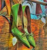 The Low Hanging Fruit (clarkcg photography) Tags: green shoes heels pumps bow tie string wood gorgeousgreenthursday
