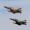French AF Couteau Delta display team Dassault Mirage 2000D x2 652 '3-XN', 630 '3-XJ' (Hugh Dodson) Tags: departures fairford riat2017 frenchaf couteaudelta displayteam dassault mirage2000d 652 3xn 630 3xj