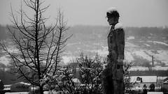 siempre presente... (_DSC0942) (Rodo López. Fotero... instantes en un clic) Tags: minero estatua elbierzo españa explore excapture bembibre mineria nieve invierno blancoynegro