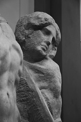 Prisoners #4 (Sara Bellini) Tags: florence italy sculpture statue bw monochrome unfinished museum culture blackandwhite portrait female art galleriadellaccademia michelangelo marks face