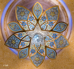 The flower (MF[FR]) Tags: flower lustre chandelier mosquée mosque sheikh zayed abu dhabi abou dabi eua uae emirates samsung nx1
