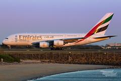 A6-EEK EK A380 34L YSSY-1081 (A u s s i e P o m m) Tags: emirates ek airbus a380 syd yssy sunset sydneyairport