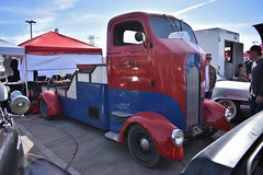 Mooneyes X-Mas Party 2017 (USautos98) Tags: 1941 dodge coe cabover flatbed truck hotrod streetrod custom