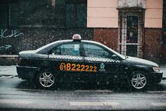 Taxi (ewitsoe) Tags: canon jezyce ewitsoe poznan poland winter street urban city snowing eos 6dii 50mm cityscape wetsnow umbrella