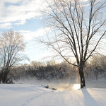 winter river steam thumbnail