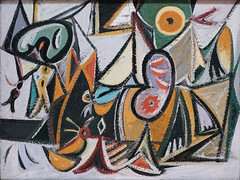 Enigmatic Combat, 1936-37 (Jonathan Lurie) Tags: arshile gorky oil painting art museums modern museum enigmatic combat sfmoma san francisco arshilegorky artmuseum artinmuseums enigmaticcombat modernart oilpainting sanfranciscomuseumofmodernart sanfrancisco california unitedstates us