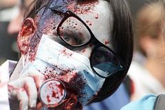 Dr. Zombie (vinnie saxon) Tags: red colors nikon nikoniste event portrait doctor scary zombie people