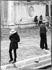 Conversation (helen kay) Tags: monochrome blackandwhite gondolier people street venezia venice canon