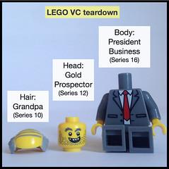 LEGO VC teardown (followthethings.com) Tags: ucu pension strike legovc vicechancellor minifigure teardown lego grandpa prospector president business