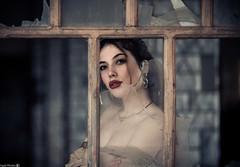 Portrait (Vagelis Pikoulas) Tags: girl woman portrait bokeh window vintage old canon 6d tamron 70200mm vc vilia greece 2018 winter february