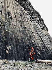 Climbing the wall at Hells Gate (Doug Goodenough) Tags: bicycle bike cycle pedals spokes giant anthem 2 275 suspension full fs hells gate state park lewiston idaho 2018 feb 18 february winter basalt columnar rock formation snake river drg531 trails trail drg53118 drg53118p