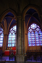 Notre Dame Cathedral (sarowen) Tags: notredamecathedral notredamedeparis notredame parisfrance paris france cathedral church stainedglass stainedglasswindow column pillar