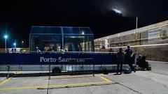 Porto Santo Line (Steenjep) Tags: madeira portugal ferie holiday urlaub portosanto harbour watersea night light reflex