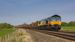 66845 (mike.online) Tags: class66 shed colas 66845 brindle backline train locomotive railway rail heavyhaul mikeonline ukrail freight diesel gm generalmotors england uk britain photo