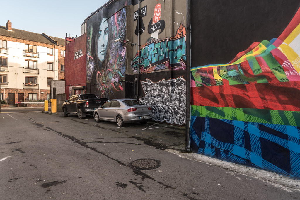 STREET ART AT THE TIVOLI CAR PARK IN DUBLIN [LAST CHANCE BEFORE THE SITE IS REDEVELOPED]-135619